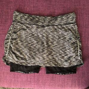 Athleta Grey Athletic Skirt with Shorts